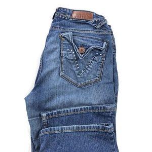 Vigoss Vigold Bootcut Stretch Jeans Rhinestones